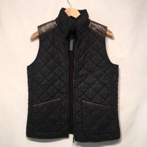 Lauren Jeans Quilted Vest With Fleece Lining Sz M